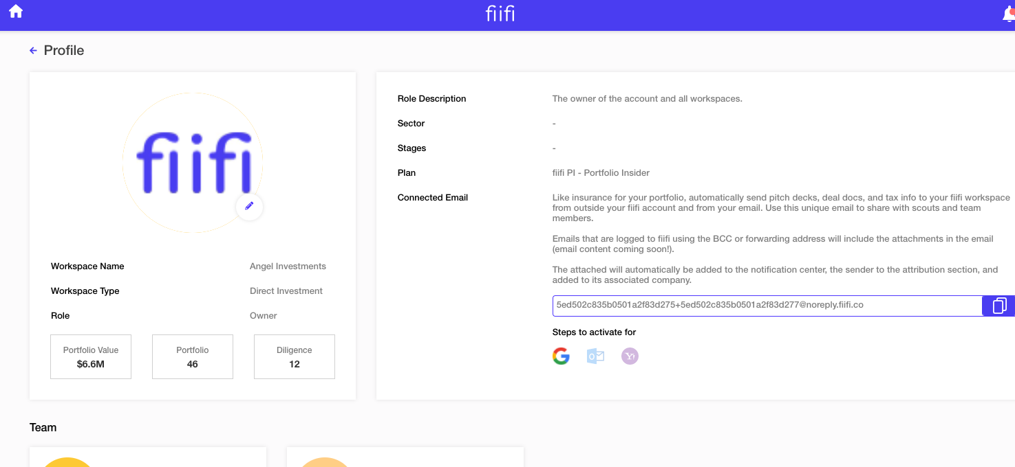 email forwarding with fiifi, scouts, startups, LPA, Legal